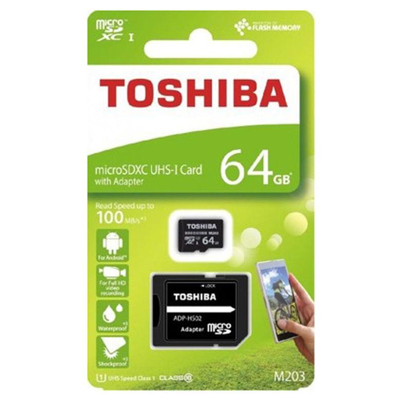 Karta Microsdxc 64gb Adapter Sd Class 10 Toshiba Tkn Connect