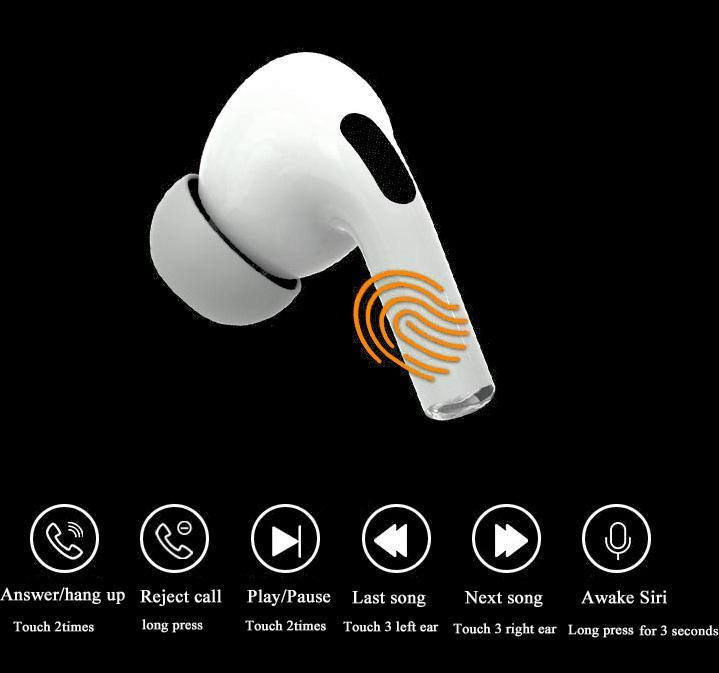 Słuchawki bezprzewodowe Bluetooth douszne stereo - i3 PRO